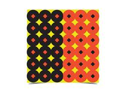 "Birchwood Casey Shoot-N-C 1"" Target Pasters Orange and Black Package of 432"
