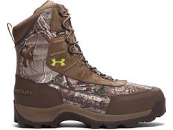 """Under Armour UA Brow Tine 8"""" 400 Gram Insulated Waterproof Hunting Boots Leather Realtree Xtra/Un..."""