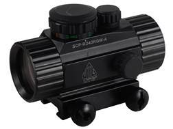 Leapers UTG Red Dot Sight 38mm Tube 1x 4 MOA Red and Green Dot with Integral Picatinny Mount Matte