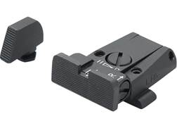 LPA SPR Adjustable Sight Set Glock 17, 19, 22, 23, 34, 35 Steel Blue
