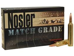 Nosler Match Grade Ammunition 26 Nosler 140 Grain Custom Competition Hollow Point Boat Tail Box o...