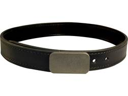 "Lenwood Leather Blunt Force Trauma Hybrid Belt 1.5"" Stainless Steel Buckle Leather"