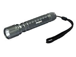 Energizer Tactical LED Flashlight with 2 AA Batteries Aluminum Gun Metal Gray