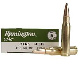Remington UMC Ammunition 308 Winchester 150 Grain Full Metal Jacket