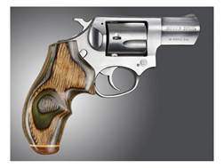 Hogue Fancy Hardwood Grips with Accent Stripe and Top Finger Groove Ruger SP101
