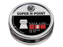 RWS Super-H-Point Airgun Pellets 25 Caliber 25 Grain Hollow Point Tin of 150