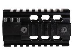 ERGO 2-Piece Z Rail Free Float Handguard Quad Rail AR-15 Pistol Length Aluminum Black