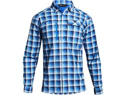Under Armour Men's UA Fish Hunter Plaid Button-Up Shirt Long Sleeve Nylon Mediterranean XL