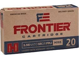 Frontier Cartridge Military Grade Ammunition 5.56x45mm NATO XM193 55 Grain Hornady Full Metal Jac...