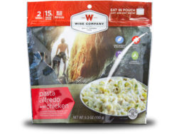 Wise Food Outdoor Pasta Alfredo with Chicken Freeze Dried Food Pack of 6