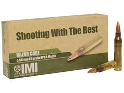IMI Ammunition 5.56x45mm 69 Grain Razor Core (Sierra MatchKing Hollow Point)