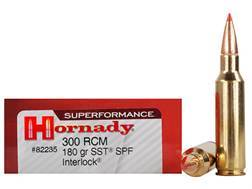 Hornady Superformance SST Ammunition 300 Ruger Compact Magnum (RCM) 180 Grain SST Box of 20