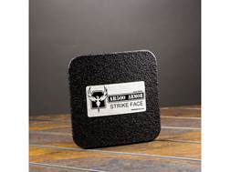 """AR500 Body Armor Stand Alone Ballistic Plate III Side Plate 6"""" x 6"""" Curved Steel Line-X Build Up"""