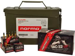 Norma USA TAC-22 Ammunition 22 Long Rifle Subsonic 40 Grain Lead Round Nose Ammo Can of 1500 (3 B...