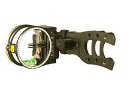 "Trophy Ridge Hit Man 3-Pin Bow Sight with Light .019"" Pin Diameter Black"