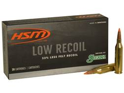 HSM Low Recoil Ammunition 243 Winchester 85 Grain Sierra Tipped Spitzer Boat Tail Box of 20