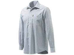 Beretta Men's Drip Dry Plain Collar Button-Up Shirt Long Sleeve Cotton