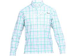 Under Armour Men's UA Fish Hunter Plaid Button-Up Shirt Long Sleeve Nylon