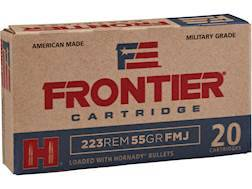Frontier Cartridge Military Grade Ammunition 5.56x45mm NATO XM193 55 Grain Hornady Full Metal Jac...