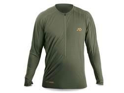 First Lite Men's Wilkin QZ 1/2 Zip Base Layer Shirt Long Sleeve Aerowool Blend Pine XL