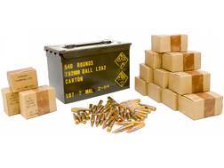 Military Surplus Ammunition 7.62x51mm 146 Grain Full Metal Jacket Berdan Primed Ammo Can of 540