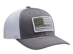 Leupold Flag Patch Logo Trucker Hat Polyester Charcoal/White