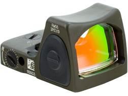 Trijicon RMR Type 2 Reflex Red Dot Sight Adjustable LED 3.25 MOA Red Dot Cerakote Olive Drab