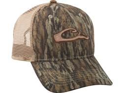 Drake Men's Mesh Back 6-Panel Camo Logo Cap Cotton