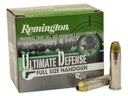 Remington HD Ultimate Defense Ammunition 357 Magnum 125 Grain Brass Jacketed Hollow Point Box of 20