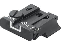 LPA TPU Adjustable Rear Sight S&W SW99, Walther PPQ Classic, PPQ M2, P99 Steel White Outline