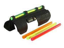 HIVIZ MPB Tactical Snap On Front Sight for Shotguns without Vent Rib 12 Ga, 16 Ga, 20 Ga Fiber Op...