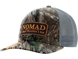 NOMAD Camo Trucker Patch Logo Mesh Back Cap Polyester Realtree Xtra Camo