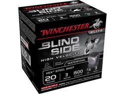 "Winchester Blind Side High Velocity Ammunition 20 Gauge 3"" 7/8 oz #3 Non-Toxic Steel Shot"