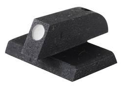 "Kensight Front Sight 1911 Novak Cut Flat Base .115"" Width Steel Black Serrated Blade with White Dot"