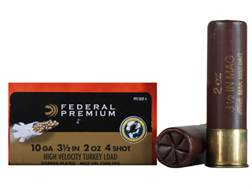 "Federal Premium Mag-Shok Turkey Ammunition 10 Gauge 3-1/2"" 2 oz #4 Copper Plated Shot High Veloci..."