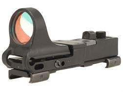 C-More Railway Reflex Sight 8 MOA Red Dot with Click Switch and Integral Picatinny Mount Polymer ...