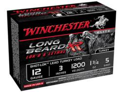 "Winchester Long Beard XR Turkey Ammunition 12 Gauge 3"" 1-3/4 oz #5 Copper Plated Shot"