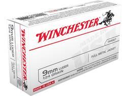Winchester USA Ammunition 9mm Luger 124 Grain Full Metal Jacket
