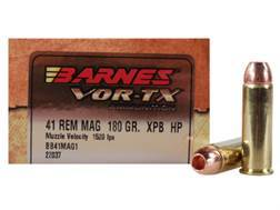 Barnes VOR-TX Ammunition 41 Remington Magnum 180 Grain XPB Hollow Point Lead-Free Box of 20