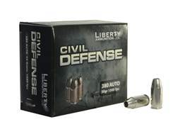 Liberty Civil Defense Ammunition 380 ACP 50 Grain Fragmenting Hollow Point Lead-Free Box of 20