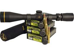 Leupold Rifle Scope and Nosler BT Ammo Combo with VX-3i 3.5-10x 40mm CDS Duplex Reticle Matte Sco...