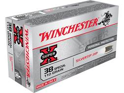 Winchester Super-X Ammunition 38 Special 110 Grain Silvertip Hollow Point