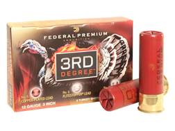 "Federal Premium 3rd Degree Turkey Ammunition 12 Gauge 3"" 1-3/4 oz #5, #6, and #7 Multi Shot Flite..."