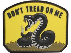 "5ive Star Gear Don't Tread On Me PVC Morale Patch Yellow and Black 2.5"" x 2"""