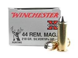 Winchester Super-X Ammunition 44 Remington Magnum 210 Grain Silvertip Hollow Point Case of 200 (1...