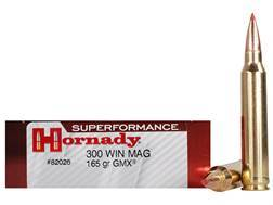 Hornady Superformance GMX Ammunition 300 Winchester Magnum 165 Grain GMX Boat Tail Lead-Free Box ...