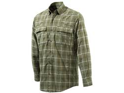 Beretta Men's Quick Dry Plaid Button-Up Shirt Long Sleeve Polyester