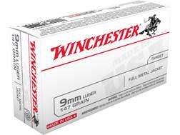 Winchester USA Ammunition 9mm Luger 147 Grain Full Metal Jacket