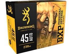 Browning BXP Personal Defense Ammunition 45 ACP 230 Grain X-Point