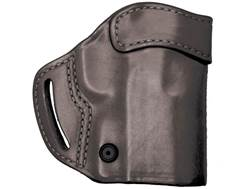 BLACKHAWK! Compact Askins Belt Holster Right Hand Kahr CW9, P9, K9, CW40, P40 Leather Black